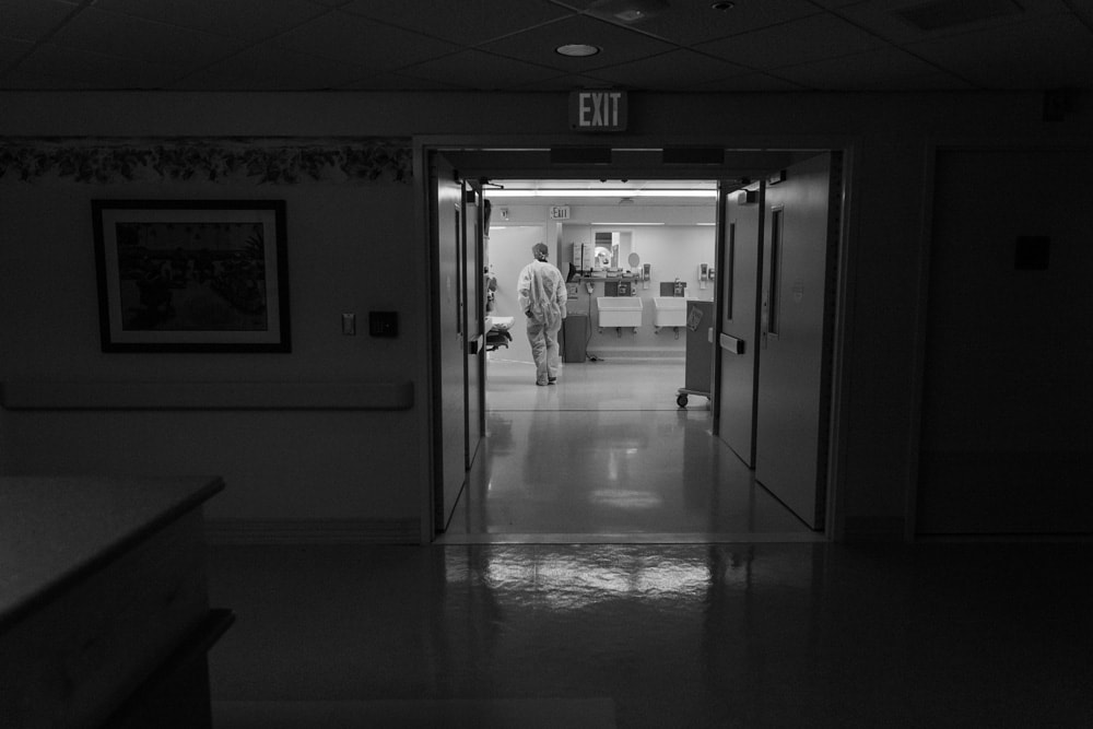 Birth Photography, hallway of labor and delivery wing