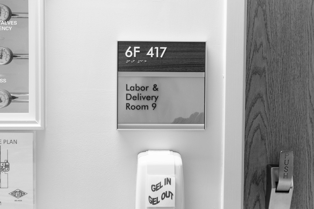 Birth Photography, labor and delivery room number 9