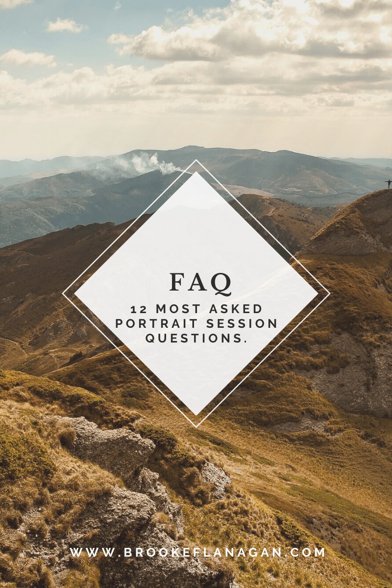 12 Most asked Portrait Session Questions.